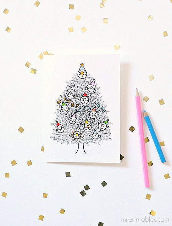 picture regarding Free Printable Christmas Cards to Color known as Xmas Playing cards in direction of Colour inside - Mr Printables