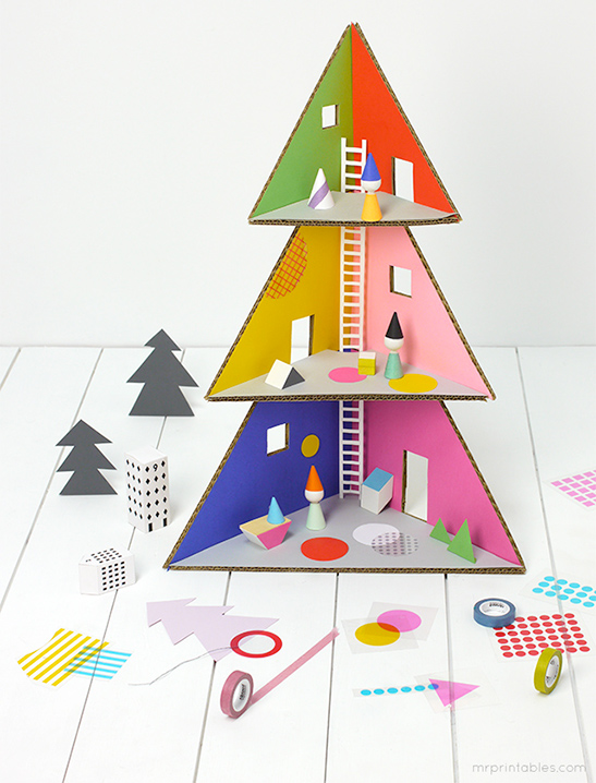 Christmas Tree Doll House Mr Printables