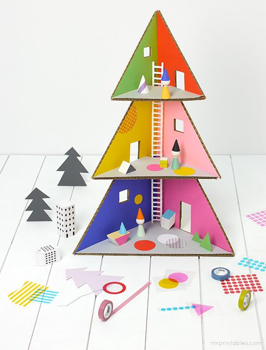 Superb Christmas Tree Doll House Mr Printables Home Interior And Landscaping Ferensignezvosmurscom
