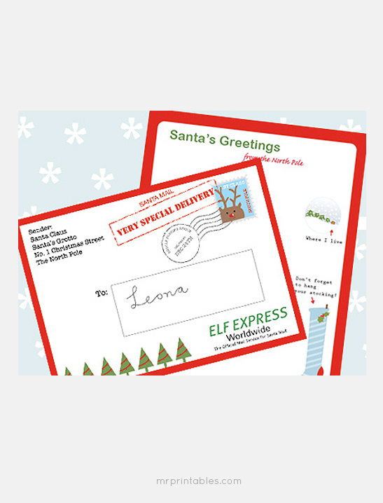 image about Letter From Santa Template Printable identify Letter versus Santa - Mr Printables