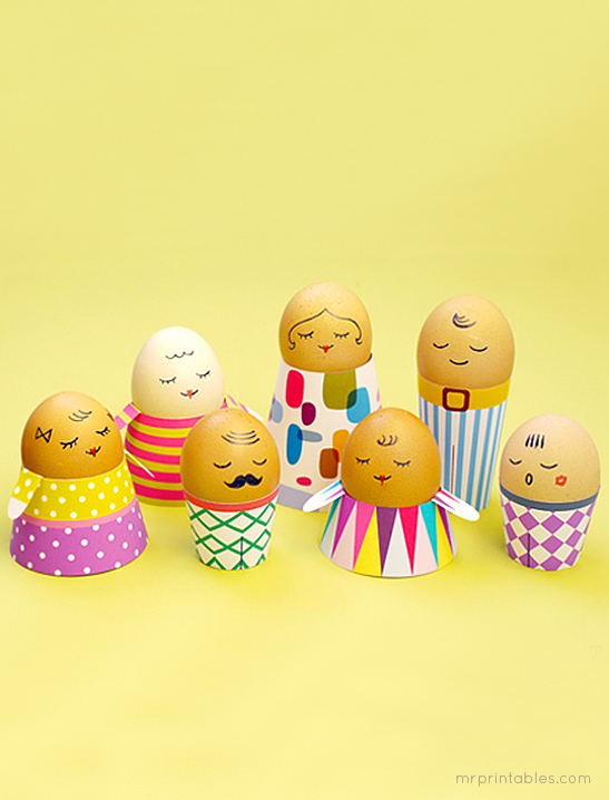 photograph about Printable Easter Crafts referred to as Egg People in america Easter Crafts - Mr Printables