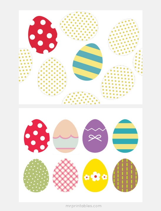 photograph about Printable Easter Egg titled Easter Eggs Memory Recreation - Mr Printables