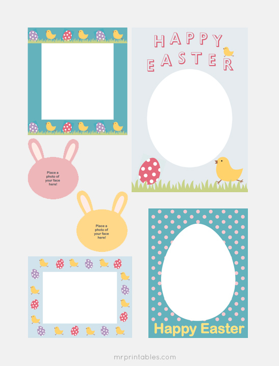 image about Printable Frames titled Content Easter Sbook Frames - Mr Printables