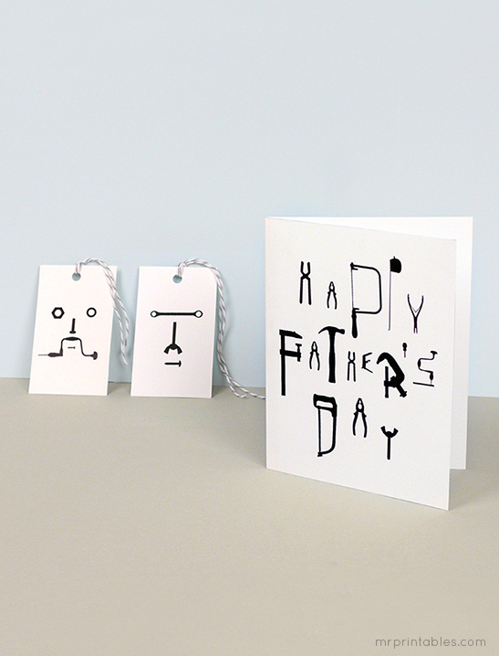 image relating to Happy Fathers Day Card Printable titled Pleased fathers working day playing cards with present tags - Mr Printables