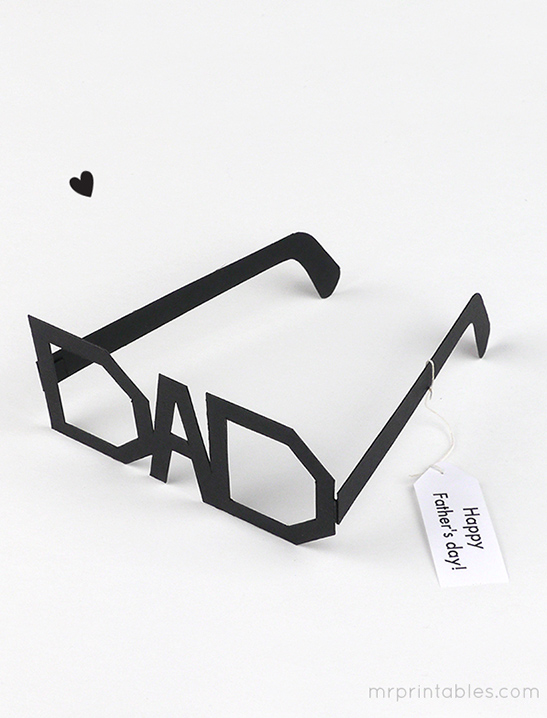 father s day typography glasses mr printables