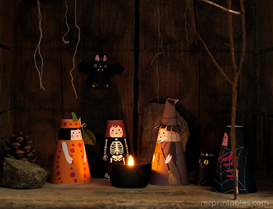 Cone Girls Halloween Paper Dolls Mr Printables