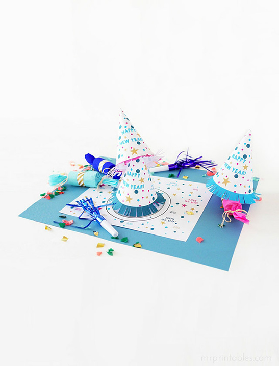 New Years Eve Placemat Party Hat Mr Printables