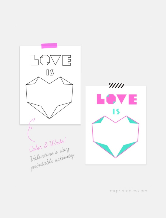 graphic about Valentines Printable Activities titled Valentine Printables - Mr Printables