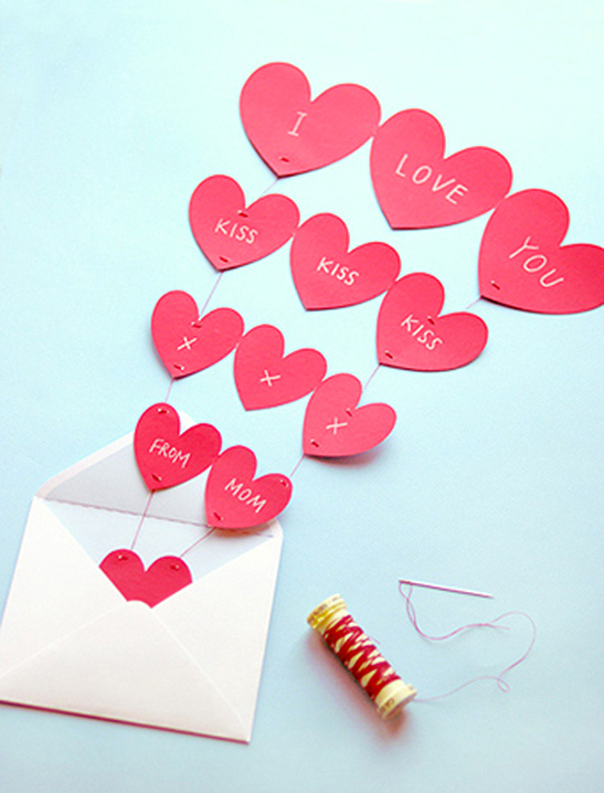 graphic relating to Printable Valentine Hearts known as Fountain of Hearts Valentine Card - Mr Printables