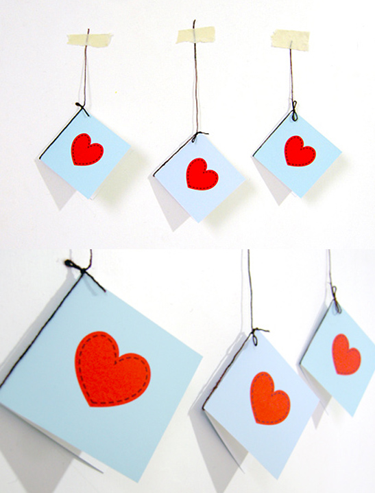 tiny hearts valentine cards