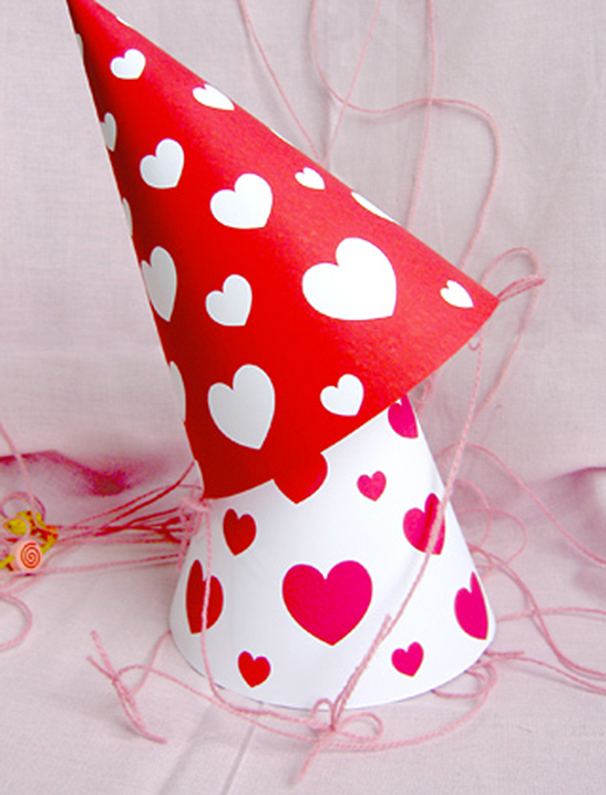 graphic regarding Printable Valentines Hearts referred to as Valentine Hearts Get together Hats - Mr Printables