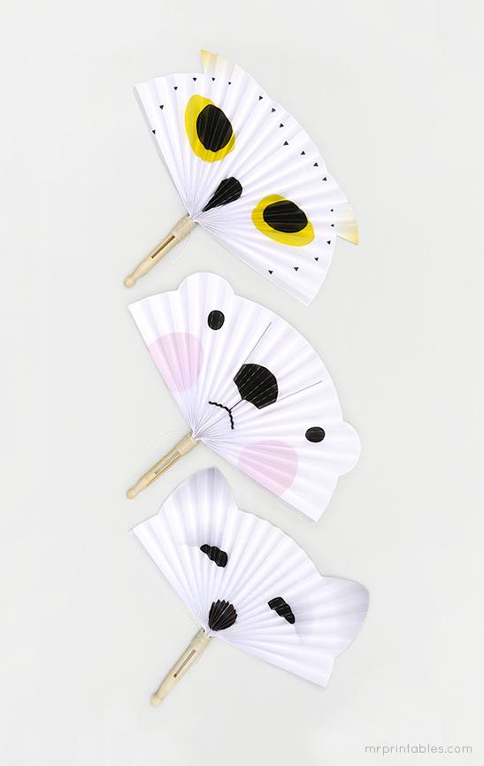 Arctic animals diy paper fans mr printables maxwellsz