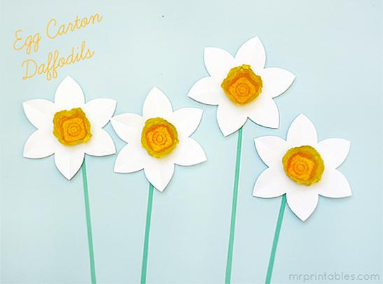 egg carton daffodils mr printables