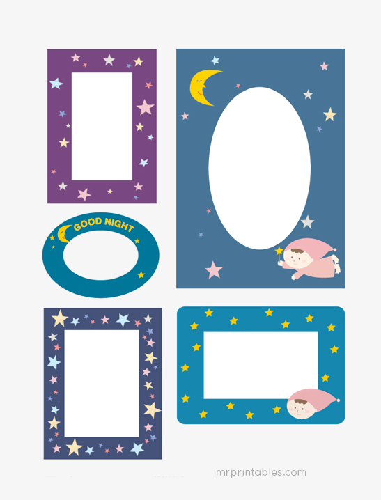 image about Starry Night Printable called Starry Evening Sbook Frames - Mr Printables
