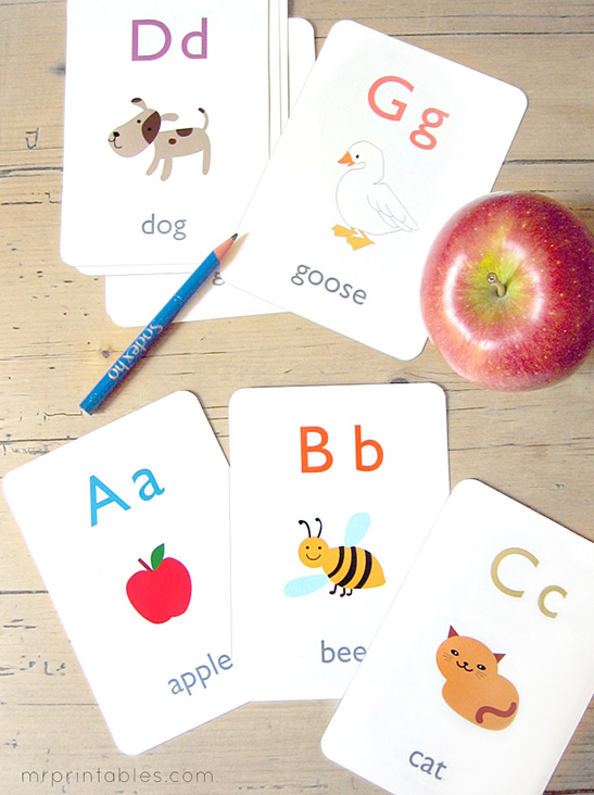 photo about Printable Font called Alphabet Flash Playing cards - Mr Printables