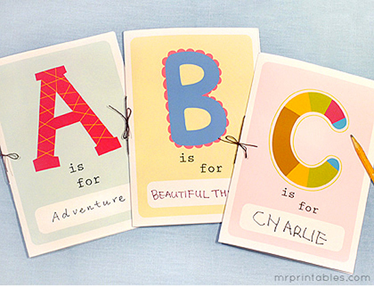 graphic about Free Printable Abc Book referred to as Printable Alphabet E-book - Mr Printables