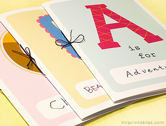 Abc Book Cover Printable : Printable alphabet book mr printables