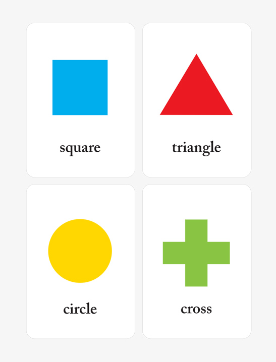 Printable Shapes Flash Cards for Preschool Learning - Mr Printables