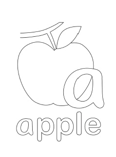 lowercase coloring pages - A Coloring Pages