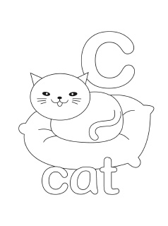 lowercase coloring pages - C Coloring Sheet