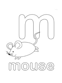 Lowercase M Coloring Page Coloring