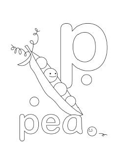 Letter P Coloring Pages Kindergarten