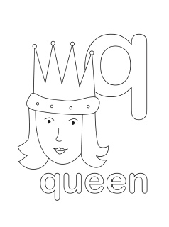 alphabet coloring pages mr printables - Coloring Page Q