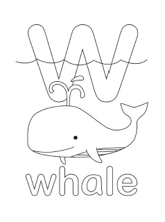 alphabet w coloring pages - photo#1