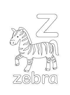 alphabet coloring pages mr printables - A Z Coloring Pages