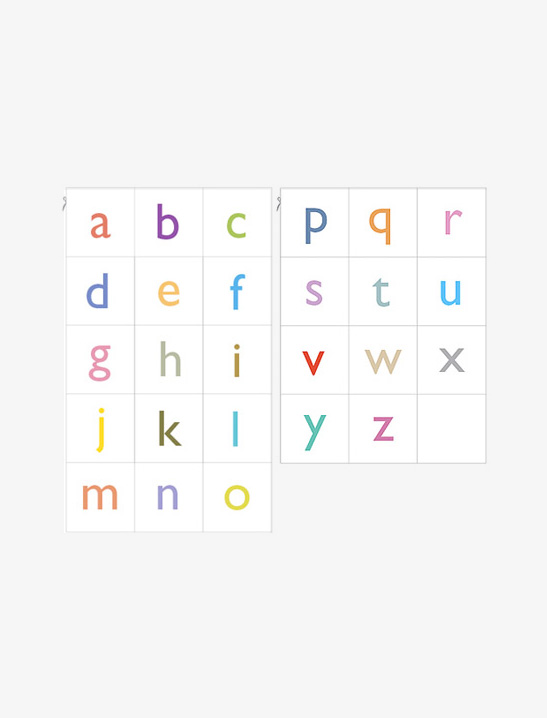 image regarding Free Printable Lower Case Letters named Printable Alphabet Playing cards - Mr Printables