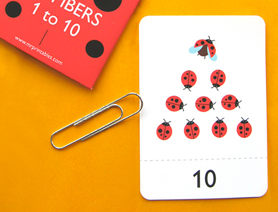 photograph about Number 1 Printable named Amount Flash Playing cards 1 in direction of 10 - Mr Printables