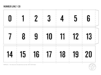Printable Number Line Mr Printables