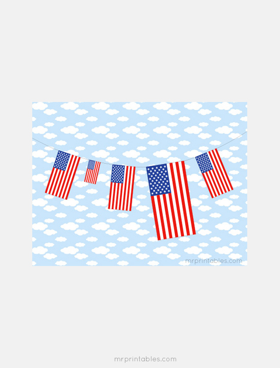 This is a picture of United States Flag Printable with graphic