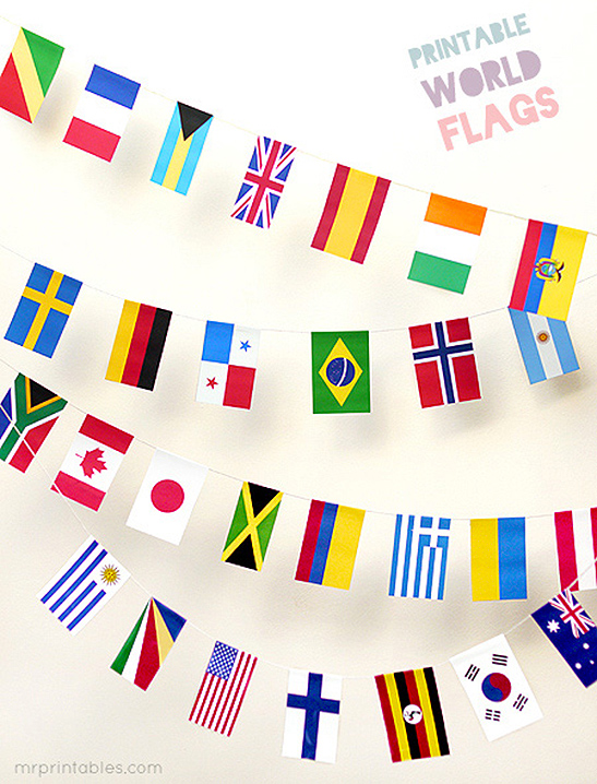photograph about Printable Country Flags identify Printable World wide Flags - Mr Printables