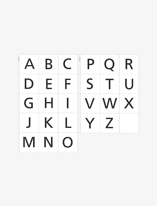 graphic relating to Printable Abc Letters named Printable Alphabet Playing cards - Mr Printables