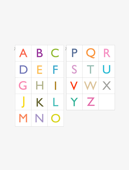 graphic regarding Printable Letters identified as Printable Alphabet Playing cards - Mr Printables