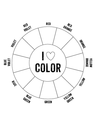 printable color wheel mr printables. Black Bedroom Furniture Sets. Home Design Ideas