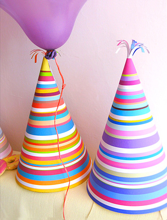 Stripy Party Hats  Mr Printables