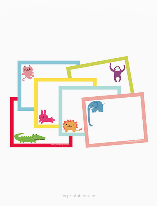 picture relating to Printable Note Cards referred to as Pets Printable Take note Playing cards - Mr Printables