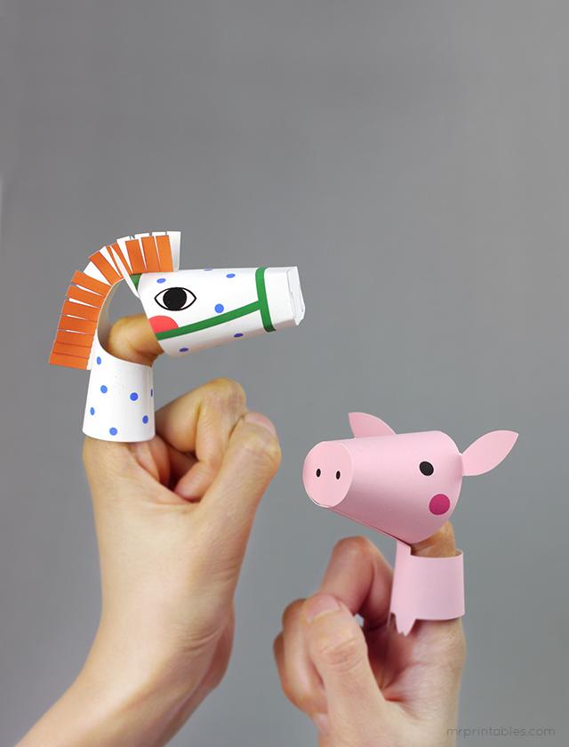 Farm animal finger puppets mr printables maxwellsz