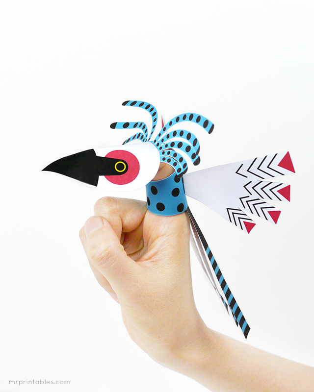 graphic about Printable Bird titled Chicken Finger Puppets - Mr Printables