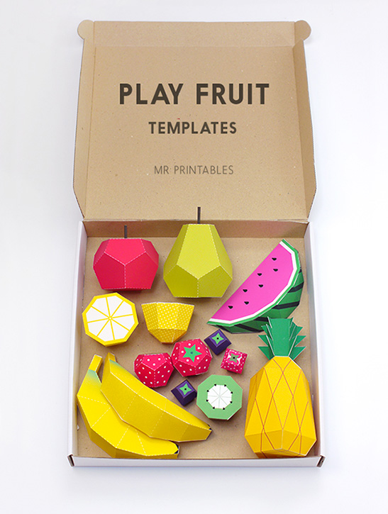 photo relating to Printables Food known as Paper Fruit - Mr Printables