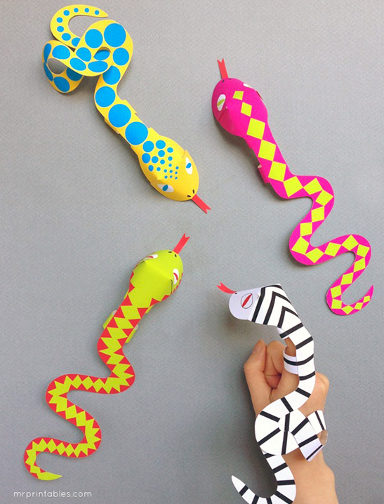image about Snake Printable titled Snake Finger Puppets - Mr Printables